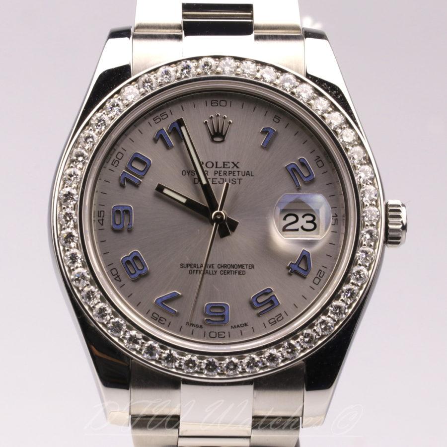 Rolex Datejust II 116334 Custom Diamond | DFW Watches